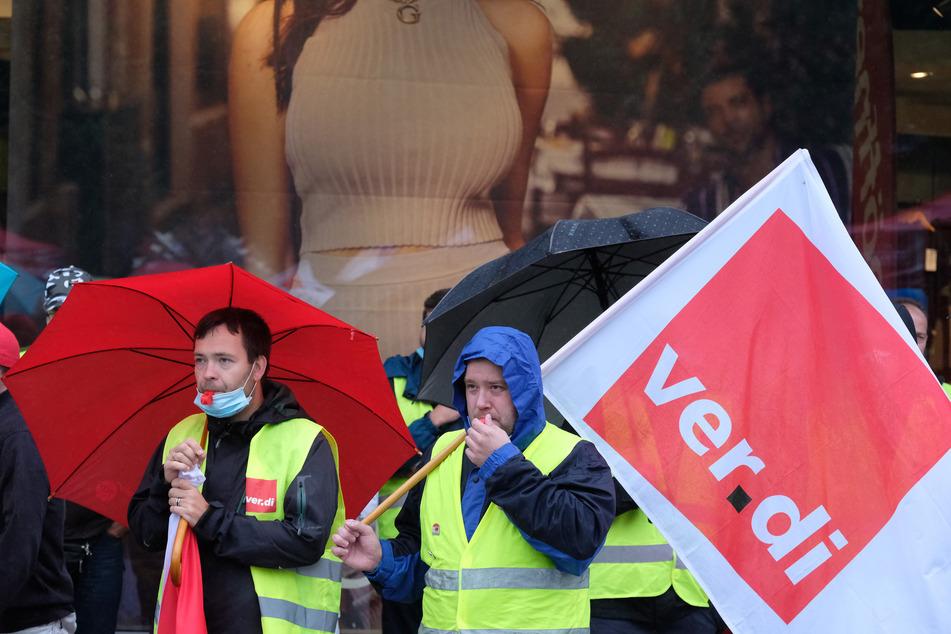 Bereits Anfang Juli hatten Einzel- und Versandhandels-Beschäftigte in Leipzig gestreikt.
