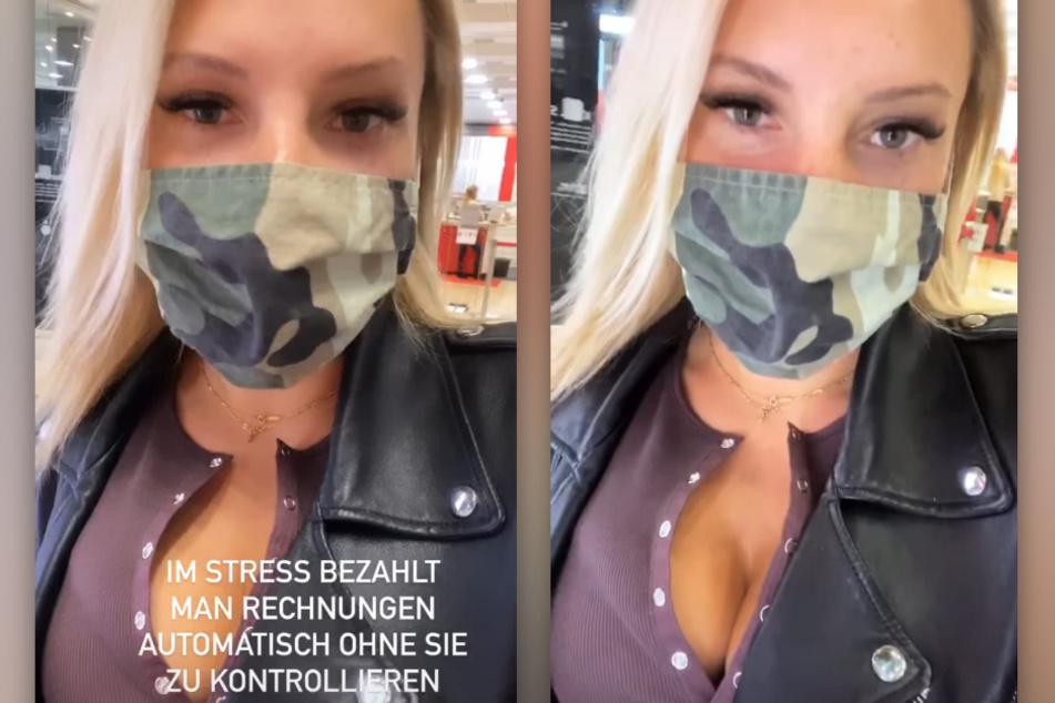 Evelyn Burdecki (32) beschwert sich in einer Instagram-Story darüber, oft falsche Rechnungen zu erhalten. (Fotomontage)