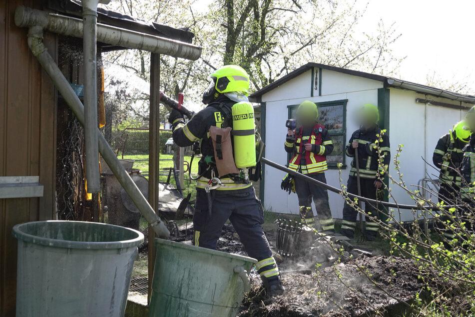 Die Feuerwehr konnte das Feuer löschen und die Gartenlaube retten.