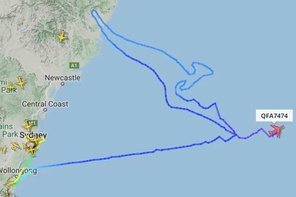 Nach etwa drei Stunden Flugzeit war das Känguru am Himmel fertig und der Jumbo-Jet auf dem Weg nach Los Angeles.