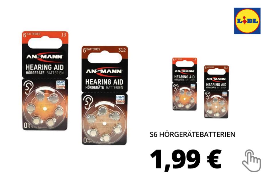 6 Hörgerätebatterien