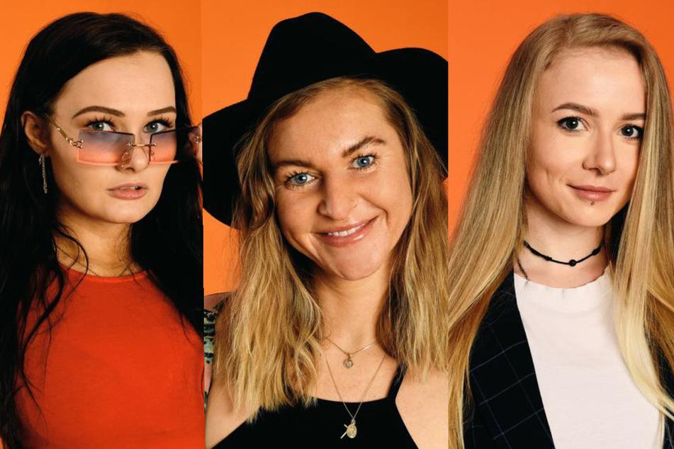 """Die """"Princess Charming""""-Kandidatinnen Niki (27, l.), Sandra (21, M.) und Sarina (27). (Fotomontage)"""