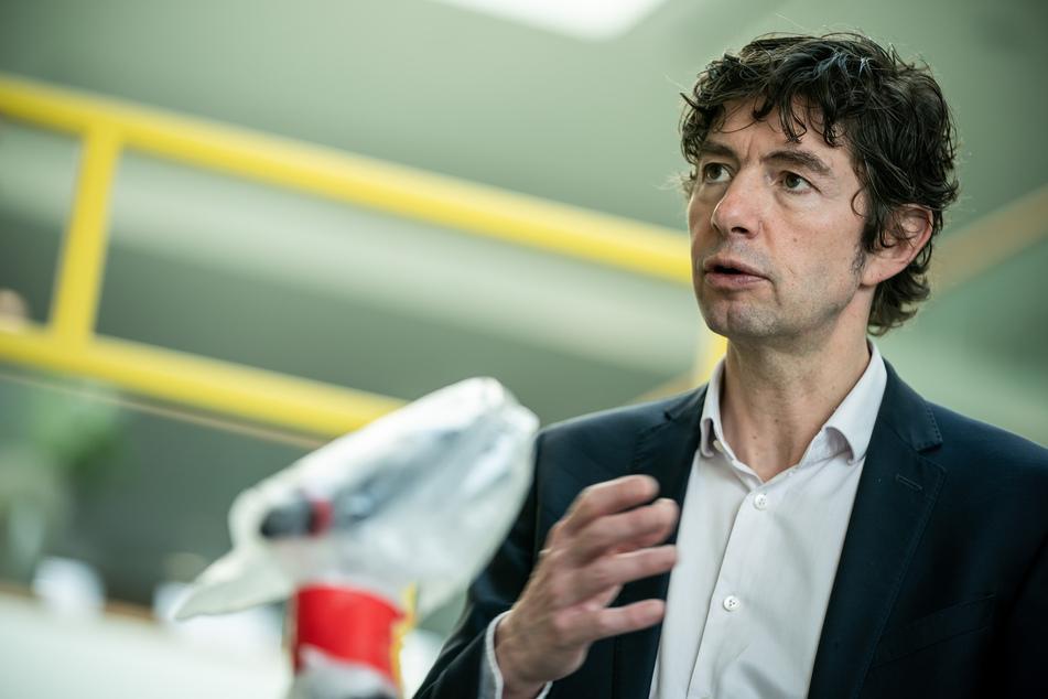 Christian Drosten, Direktor, Institut für Virologie, Charite - Universitätsmedizin Berlin, aufgenommen nach einer Pressekonferenz zum Nationalen Forschungsbündnis der Universitätsmedizin im Kampf gegen Covid-19.