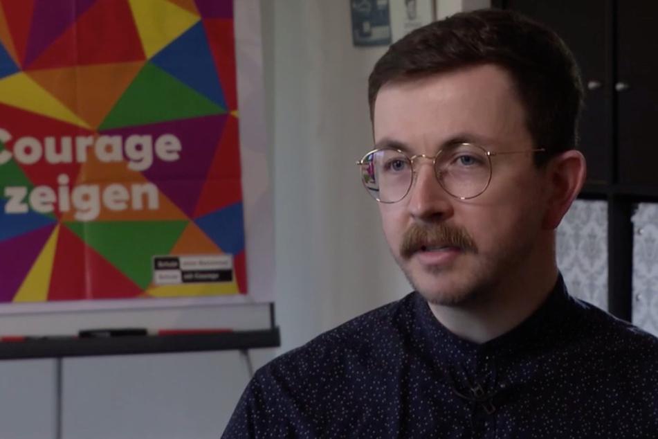 Martin Wunderlich von der Landesarbeitsgemeinschaft queeres Netzwerk Sachsen.