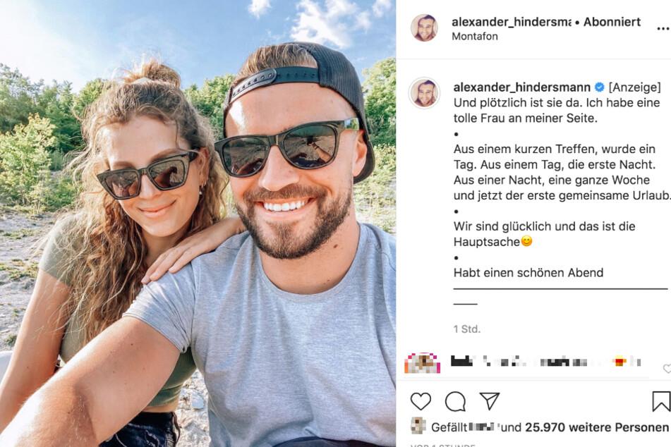 Auf Instagram machte Alex seine neue Liebe öffentlich.