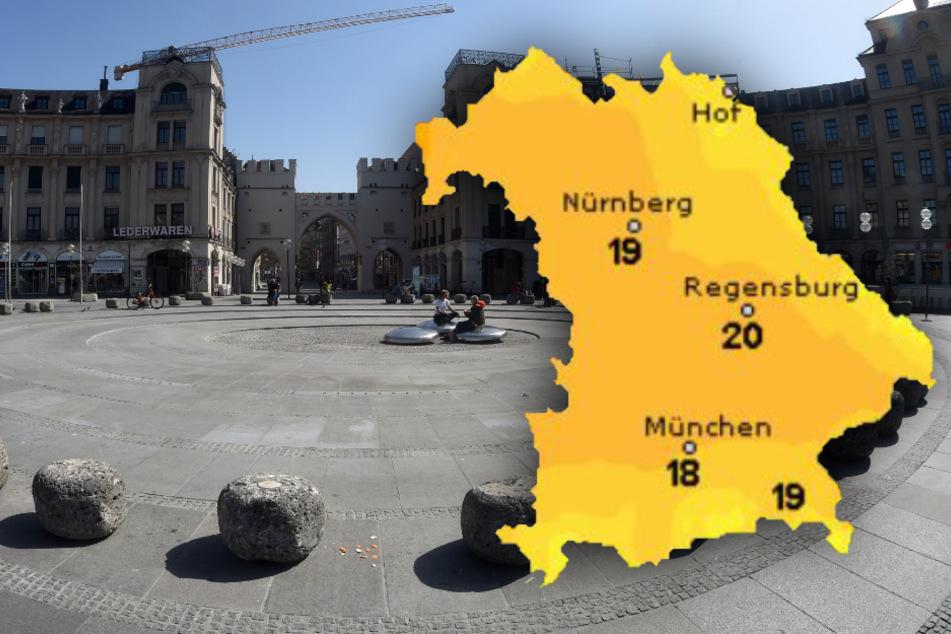 Sonniger, aber auch windiger Wochenstart: So wird das Wetter in Bayern