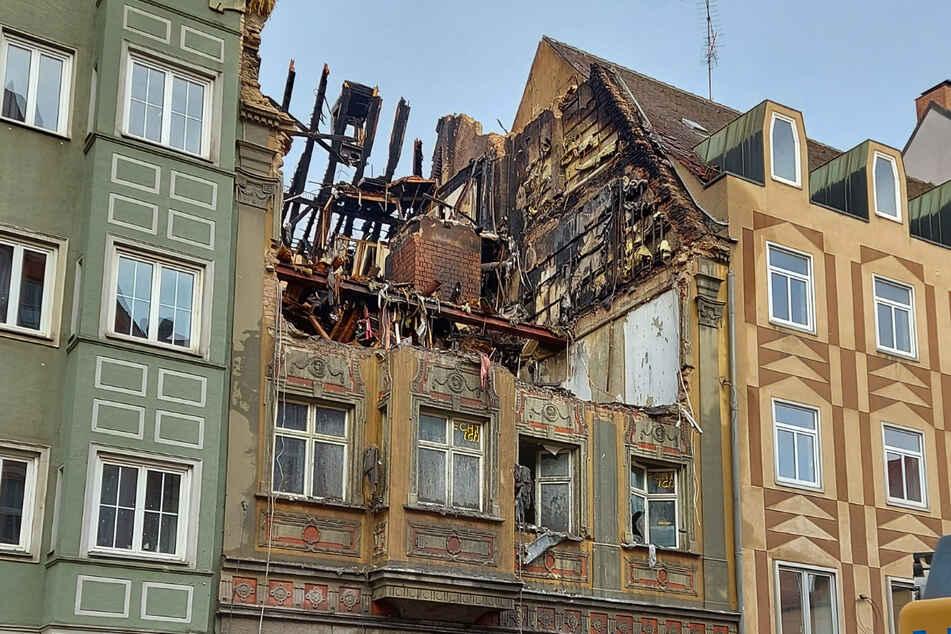Das aus dem 16. Jahrhundert stammende Haus wurde beinahe vollständig zerstört.