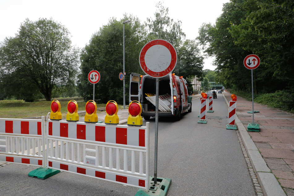 Die Bürgerstraße ist aktuell komplett gesperrt.