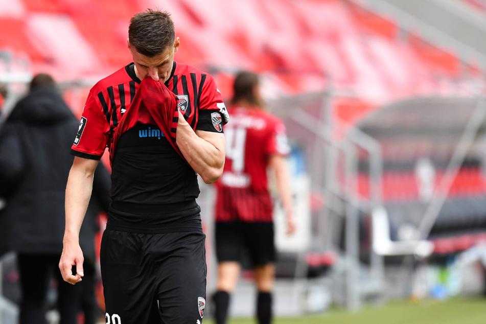 Stefan Kutschke (32) reagierte gereizt auf Nachfragen zu der kleinen Krise des FC Ingolstadt 04.