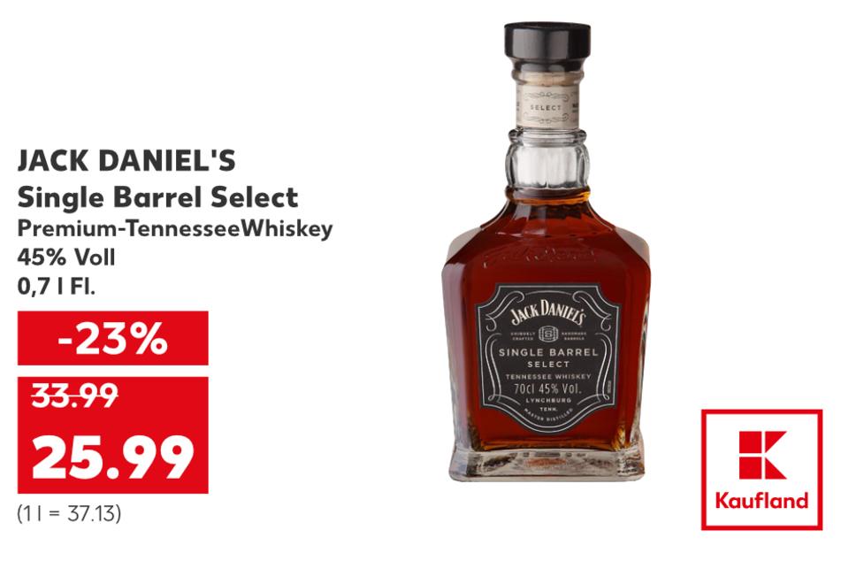 Jack Daniel's für nur 25,99 Euro.