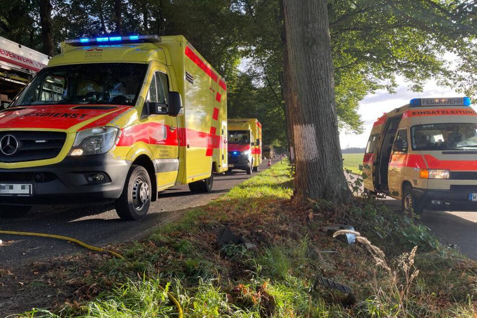 Mehrere Rettungswagen eilten am frühen Mittwochabend zur Unfallstelle.
