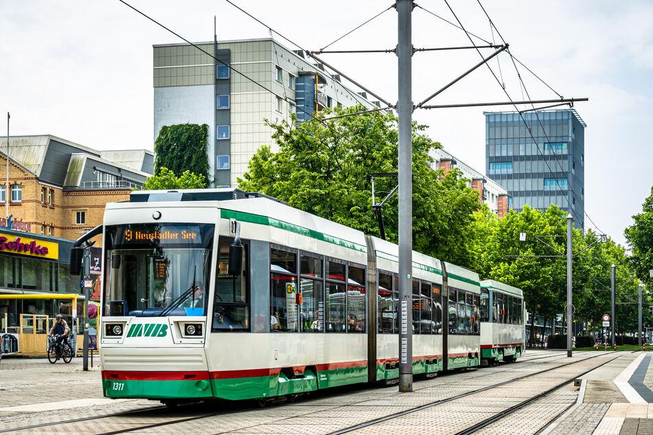 Der Streit spielte sich in einer Magdeburger Straßenbahn ab. (Symbolbild)