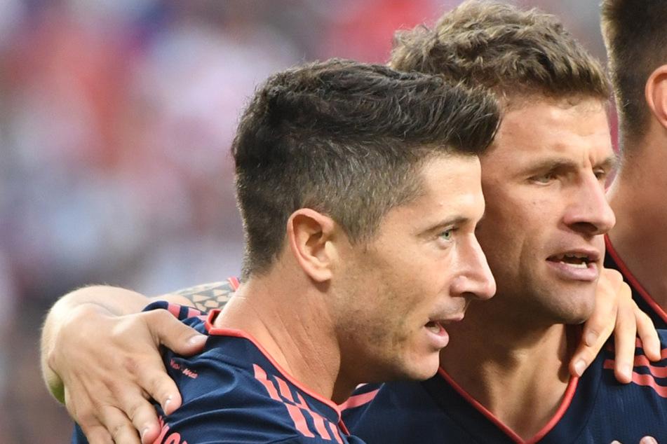 Die beiden FC-Bayern-Fan-Lieblinge Robert Lewandowski (l.) und Thomas Müller. (Archiv)