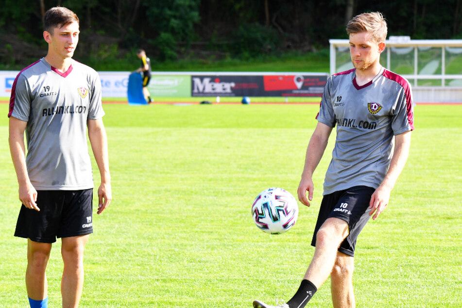 Zweite weitere Dynamo-Neuzugänge mit Bayern-Gen: Jonathan Meier (l.) und Patrick Weihrauch.