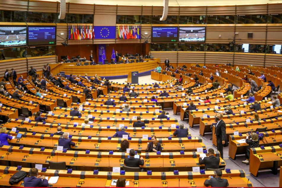 Das Plenum des Europäischen Parlaments.