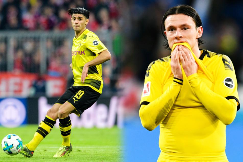 Mahmoud Dahoud (l.) und Nico Schulz stehen wohl ebenfalls auf der Streichliste von Borussia Dortmund.