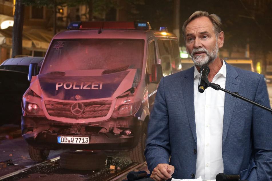 """Leipzigs OB Jung verurteilt Randalen """"auf Schärfste"""""""