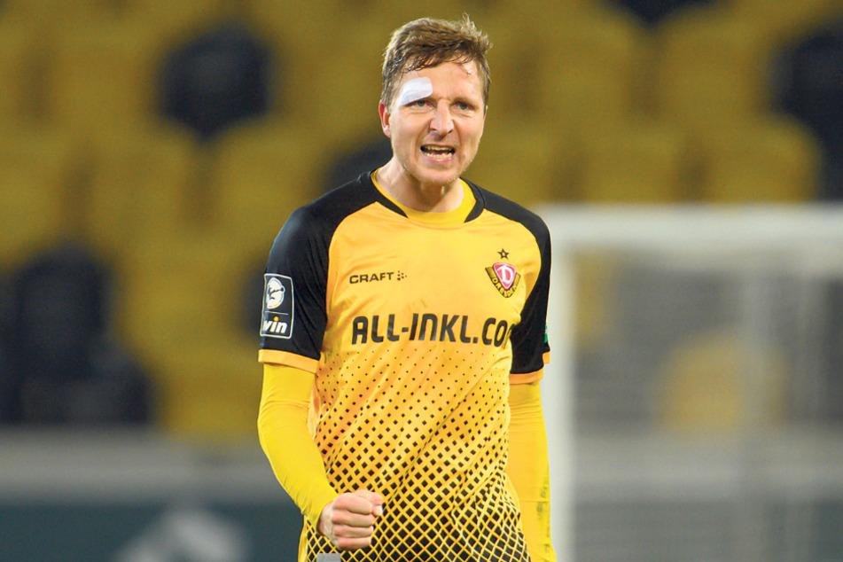 Marco Hartmann (32) ballt die Faust - auch das dritte Spiel nach seinem Comeback wurde gewonnen.