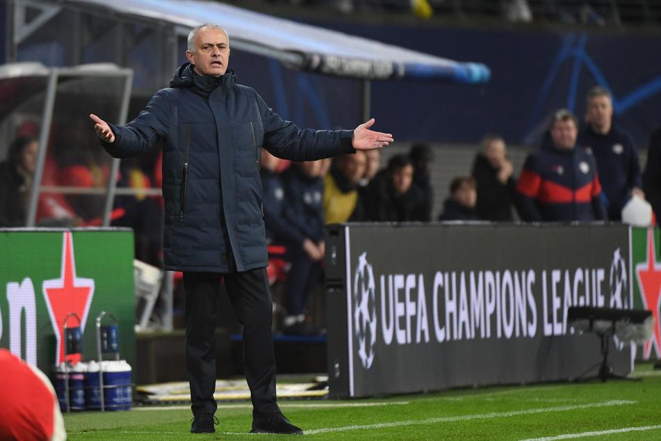 RB Leipzig warf Tottenham Hotspur unter Trainer José Mourinho (57) im vergangenen März aus der Champions League. (Archivbild)