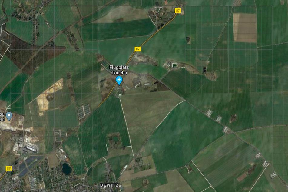 Die Notlandung erfolgte auf einem Acker nahe des Flugplatzes Schwarzer Berg.