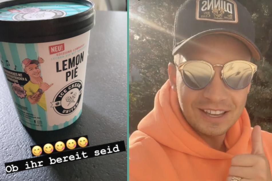 Vorfreude auf den Sommer: Pietro Lombardi mit eigenem Eis auf dem Markt