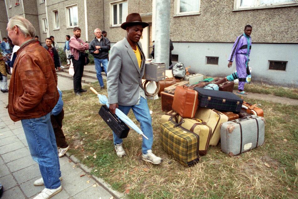 Asylbewerber mussten die Stadt nach den schweren Ausschreitungen verlassen (Archivbild).
