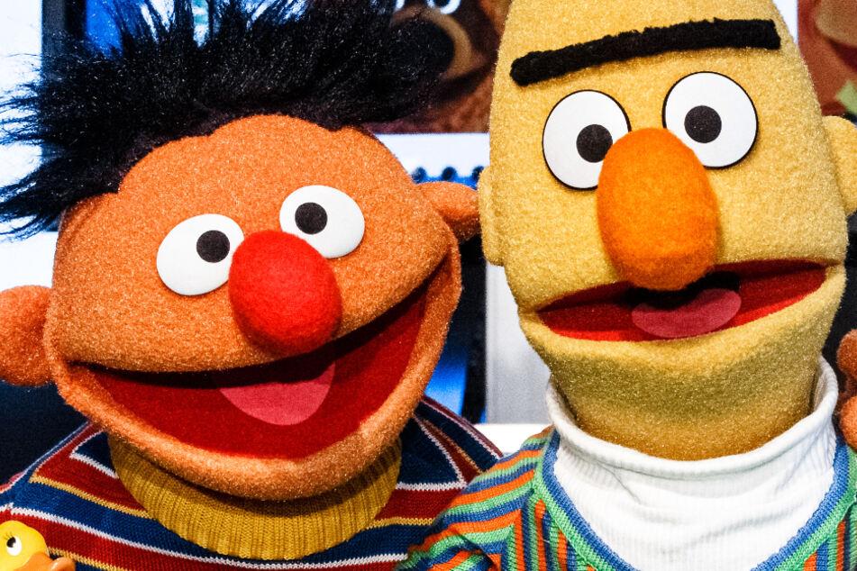 """Das Foto zeigt die beliebten Figuren Ernie und Bert aus der Kindersendung """"Sesamstraße""""."""