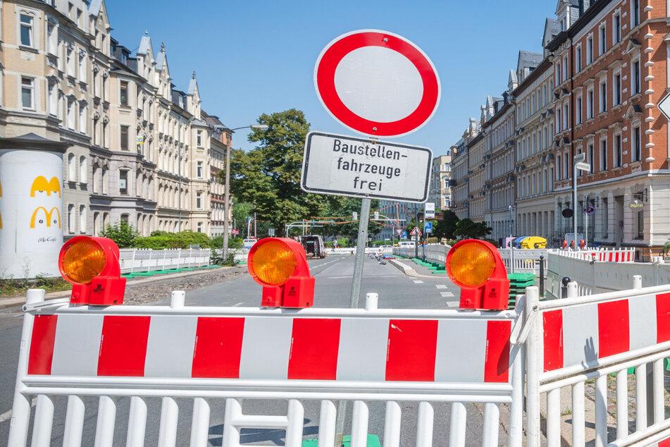 Baustellen Chemnitz: Monatelange Vollsperrung auf Chemnitzer Kaßberg