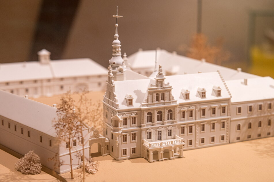 Das Schloss-Modell im Museum.
