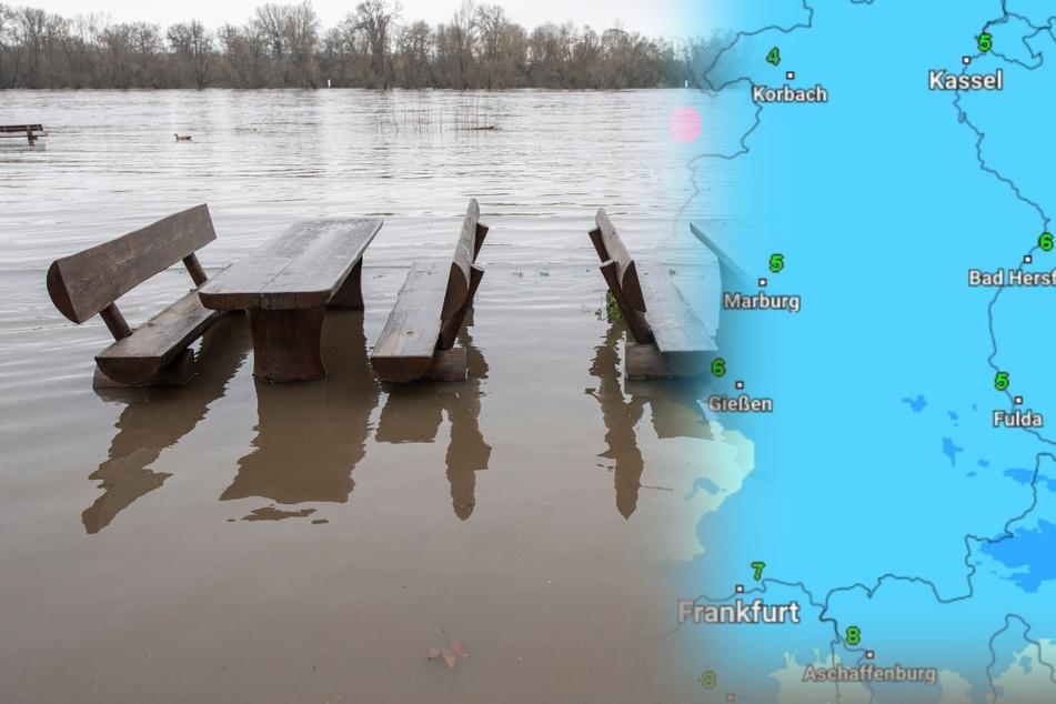 Weiterer Regen in Hessen erwartet: Keine Entwarnung beim Hochwasser