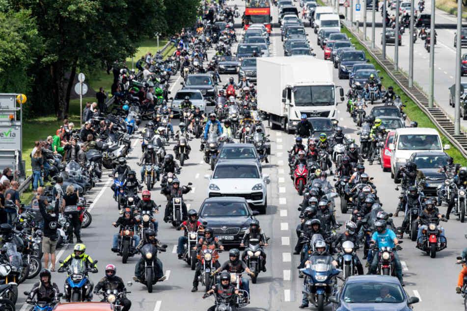 Erneut große Motorrad-Demo in München geplant