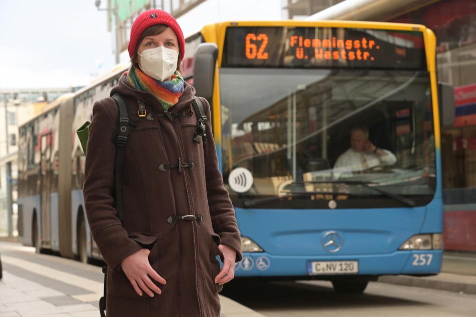 Stadträtin Susann Mäder (36, Grüne) fordert eine automatische Türöffnung bei CVAG-Bussen und Straßenbahnen.