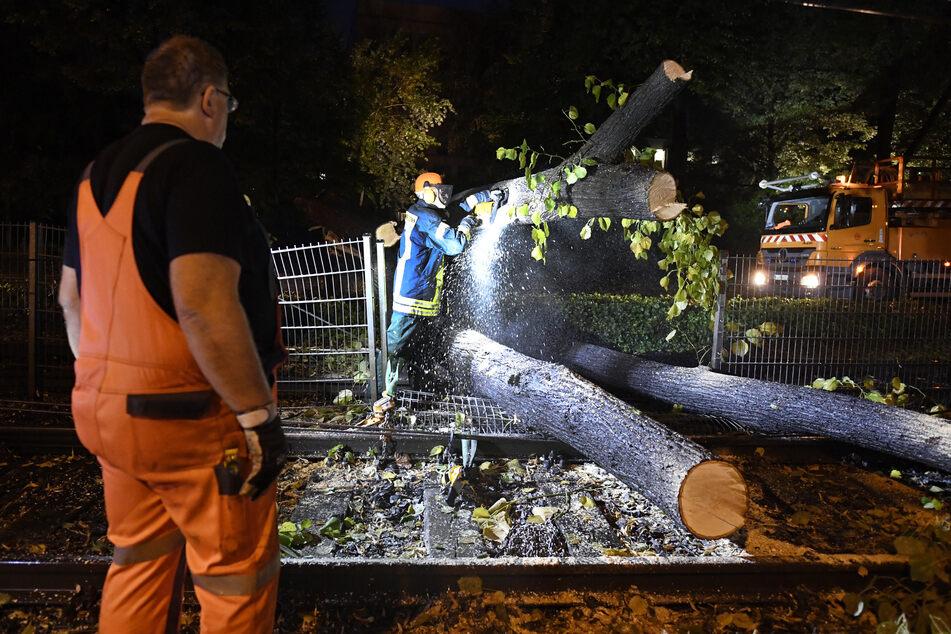 Heftige Unwetter über Bonn: Frau eingeschlossen, Baum auf Bahngleisen
