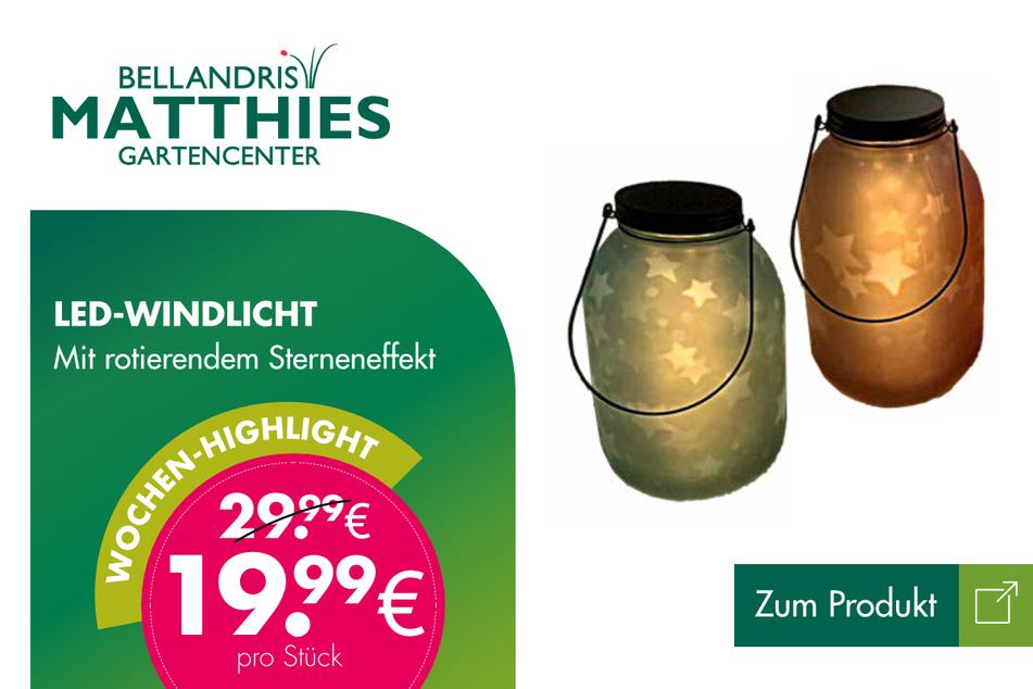 LED-Windlicht für je 19,99 Euro.
