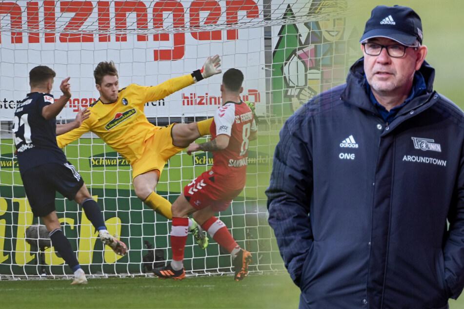 Die Mannschaft von Urs Fischer (55, r.) hat wieder in die Spur gefunden. Grischa Prömel (l.) erzielt das entscheidende 1:0 beim SC Freiburg.