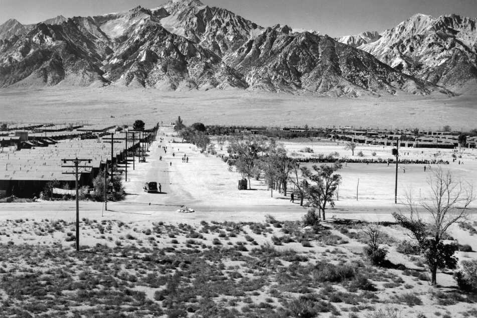 During World War II, tens of thousands of Japanese Americans were relocated and interned in concentration camps, mostly along the Pacific coast (archive image).