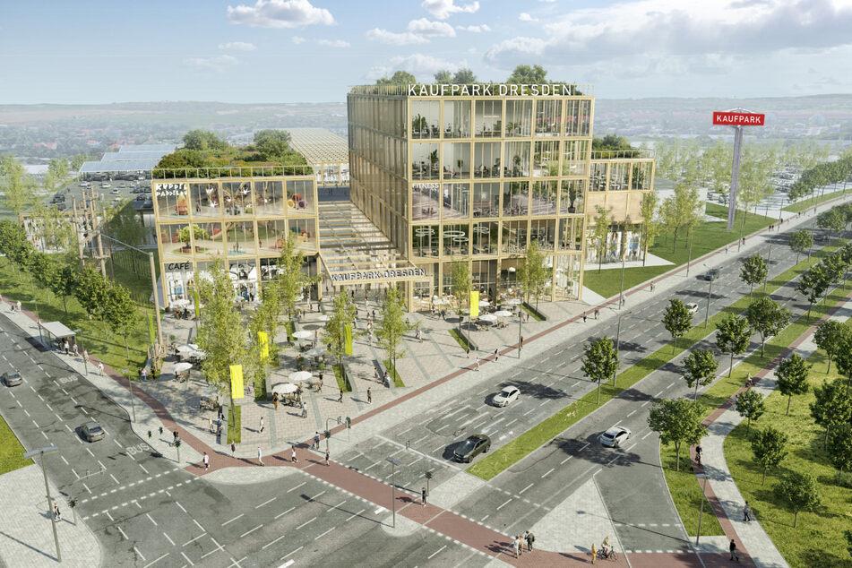 So sieht der neue Kaufpark nach den Plänen des Investors aus.