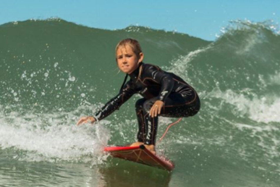 Sister Maria Clara also learned how to surf at a young age.