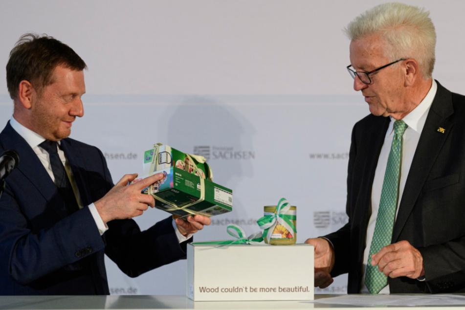 """Kretschmer und Kretschmann: """"Wir haben kein Ost-West-Thema mehr"""""""