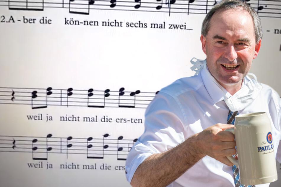 """""""6 bis 8 Leute"""": Aiwangers Abstandsregel-Rede wird zum viralen Musik-Hit"""