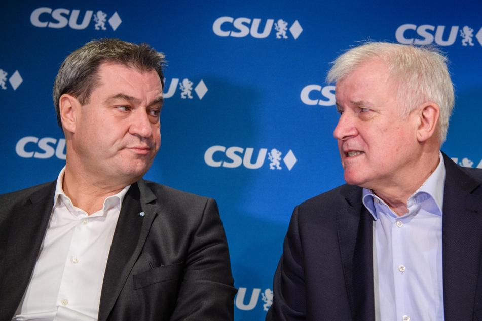 Markus Söder (l.) und Horst Seehofer besuchen am Montag die Grenze zu Österreich. (Archiv)