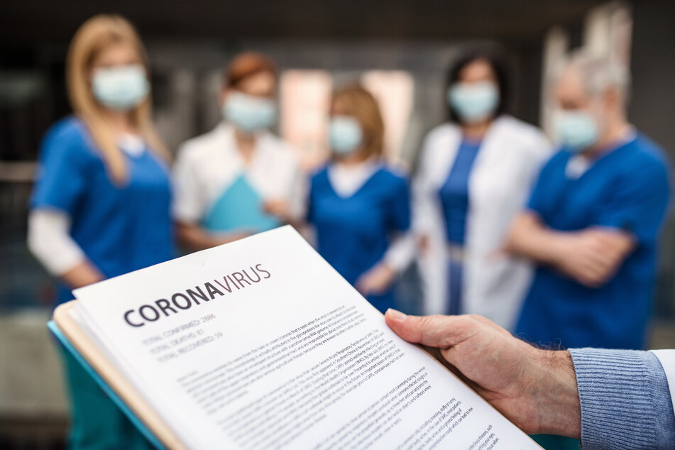 The coronavirus crisis has changed the working day in many hospitals (stock image).