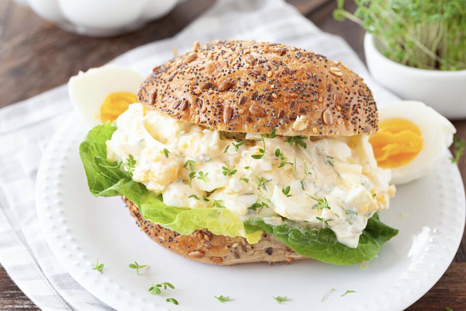 Auch eine Idee, ein Eiersalat-Burger.