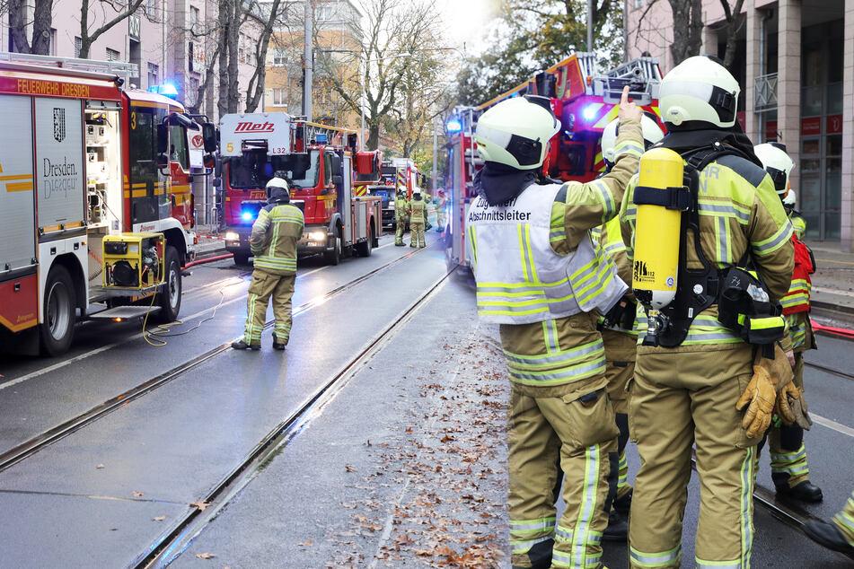 Dresden: Feuerwehreinsatz in Dresden-Strehlen: Brand in Technikraum!