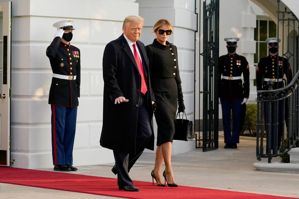 Donald Trump y su esposa Melania (50) se vieron obligados a despedirse de la Casa Blanca el miércoles pasado.