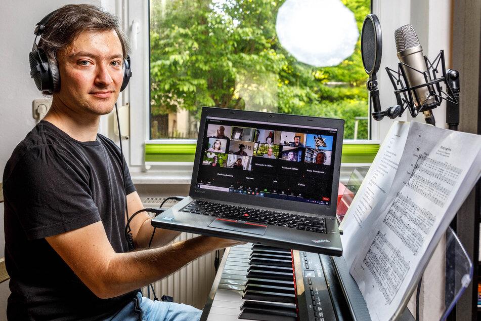 Chorleiter Michael Käppler (34) kann weiter nur virtuell mit seinem Chor proben.