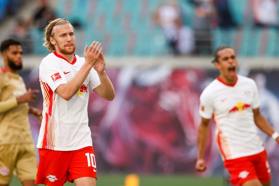 Emil Forsberg (28) zeigte gegen Mainz eine bärenstarke Leistung. Sein Treffer vom Punkt ebnete den Weg zum Heimdreier.