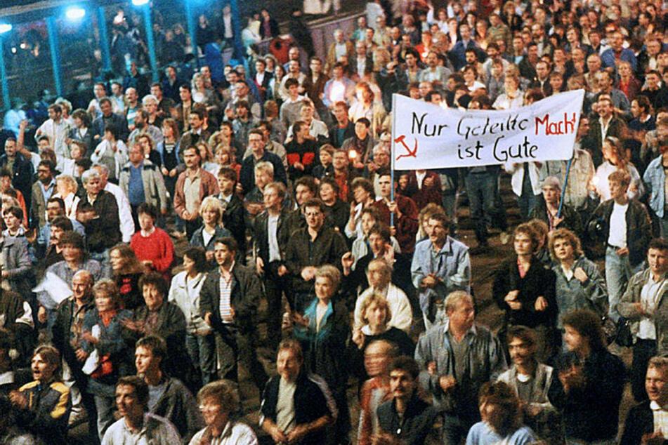 So sah es im Herbst 1989 auf den Leipziger Straßen aus. Die Friedliche Revolution nahm hier ihren Anfang.