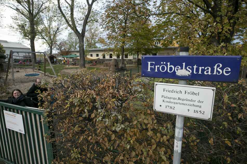 Die Tat geschah an der Fröbelstraße in Dresden.