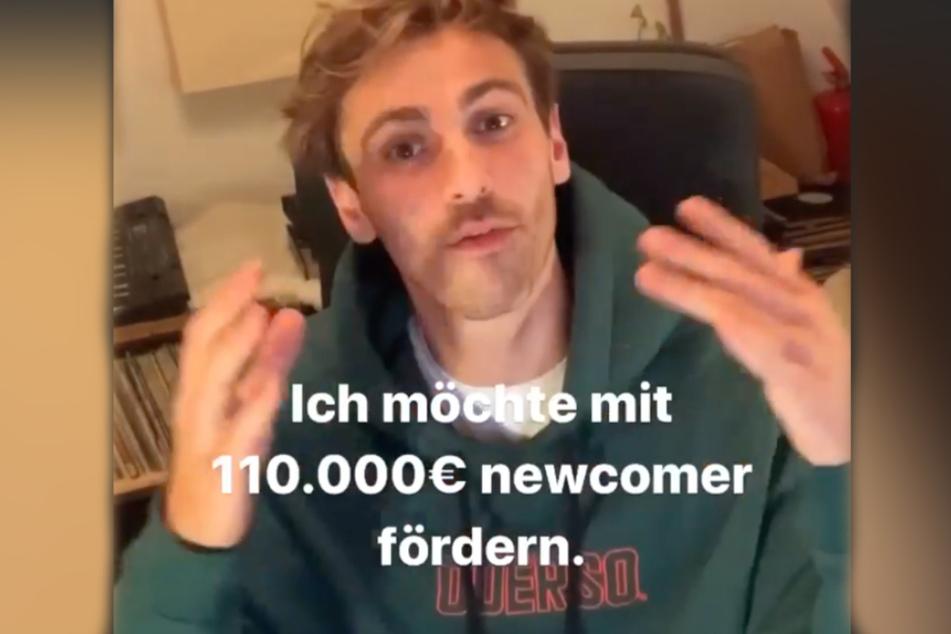 Fynn Kliemann möchte Newcomer mit 110.000 Euro fördern.